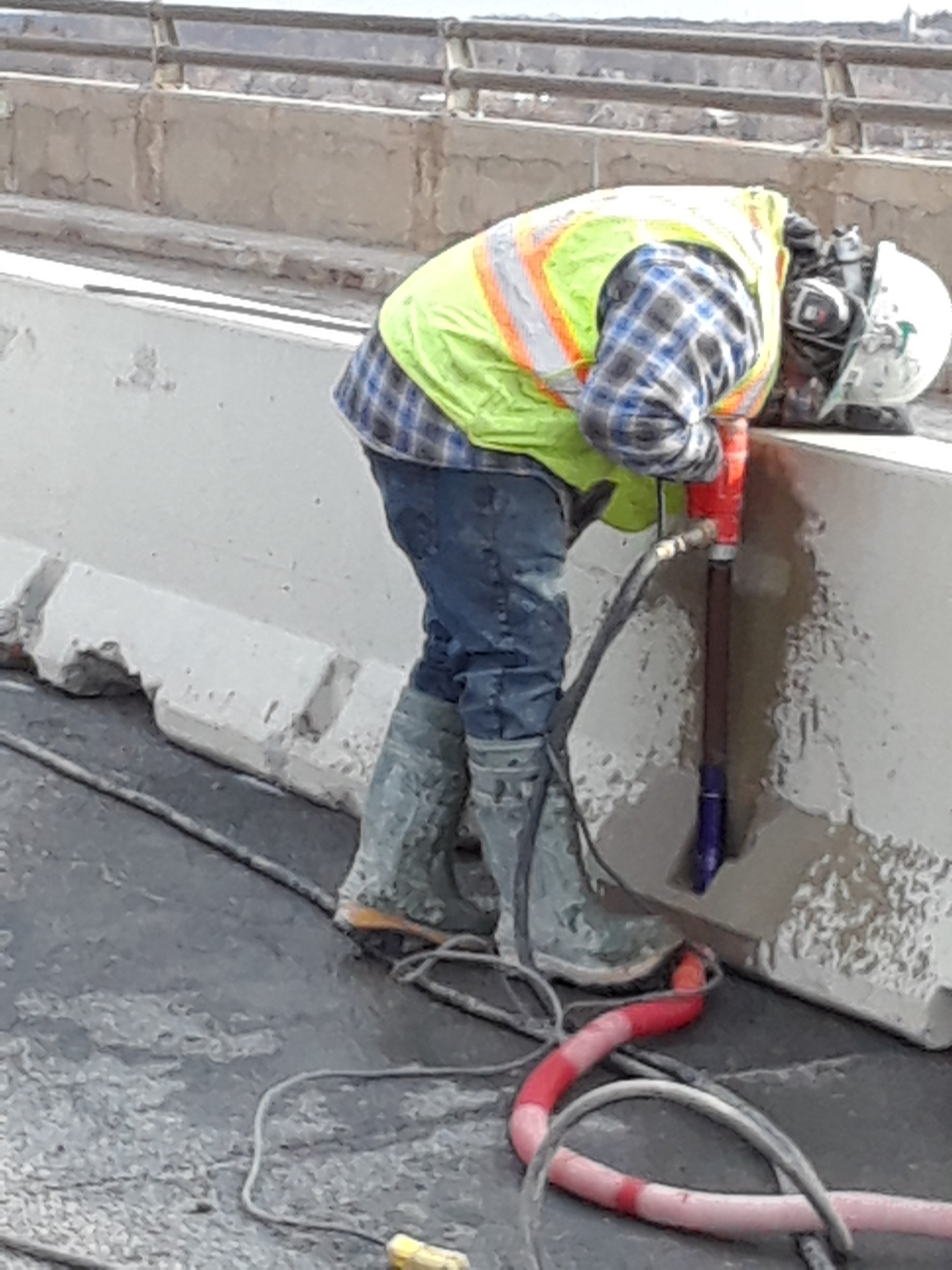 Installation / Bolting of traffic control barriers