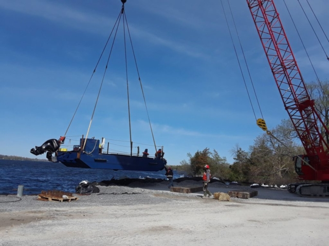 Removal of boat from the bay
