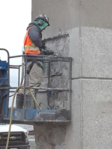Concrete chipping for concrete repair