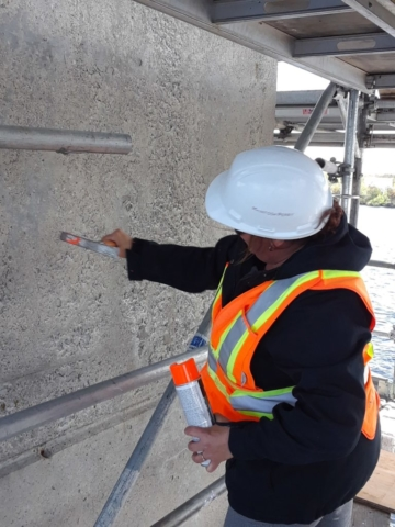 Concrete sounding and marking