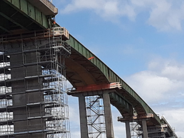 Prepared deck for girder removal