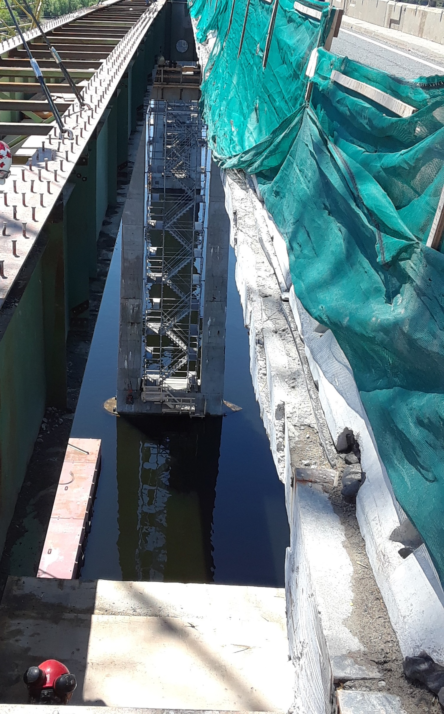 Removal of construction access platform