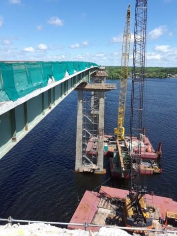 "Skyway Bridge after girder removal on segment ""C"" east side"