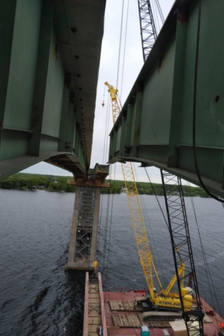 Removed girder on barges