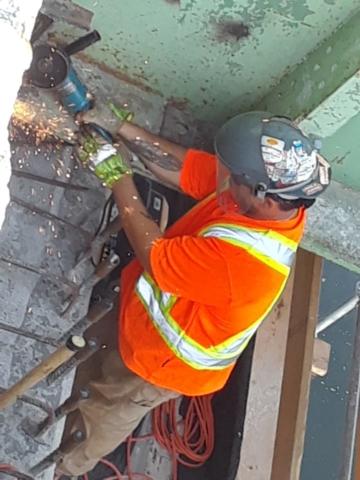 Work at pier cap