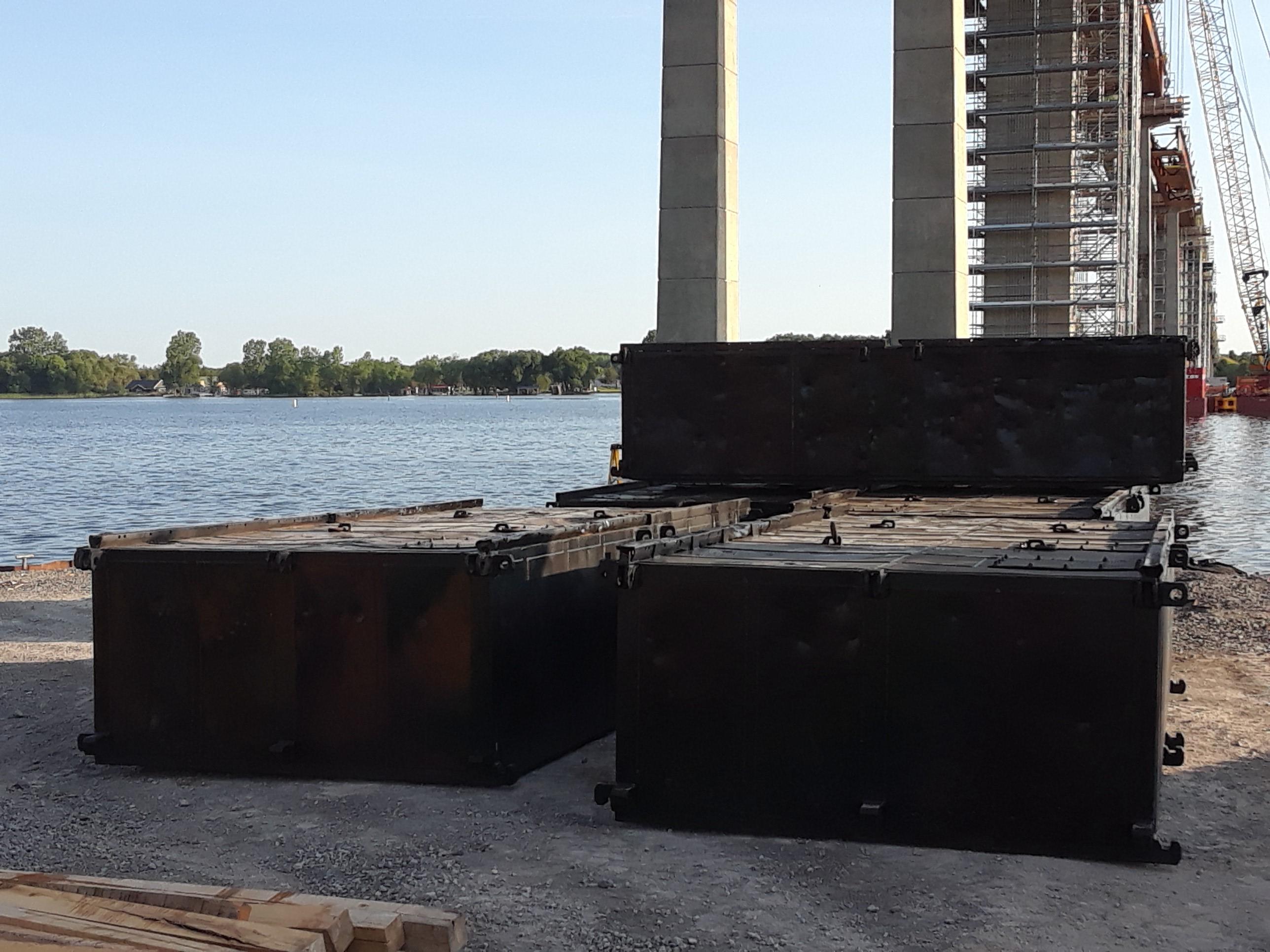 Extra barges delivered