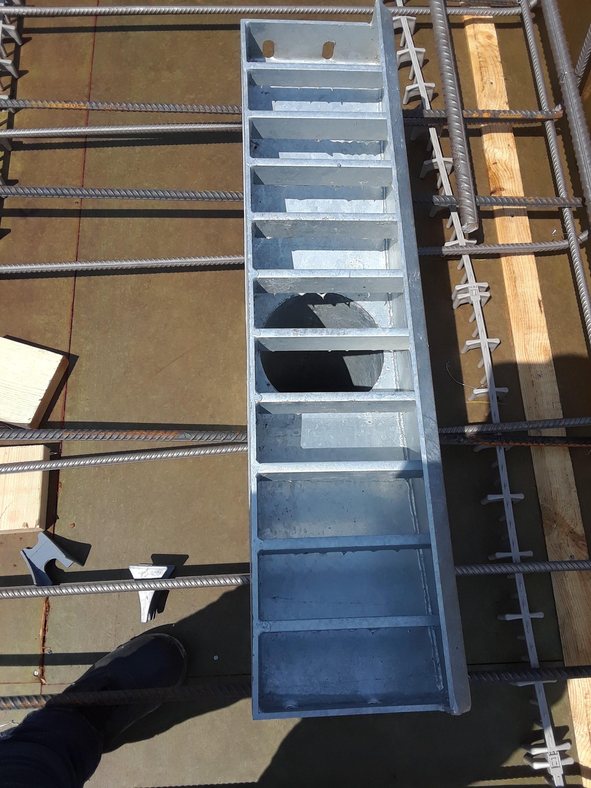 Deck drain installed