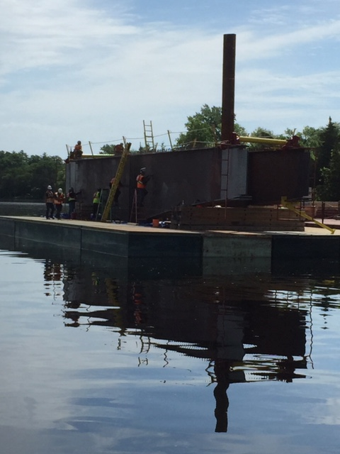 Preparing girders before installation