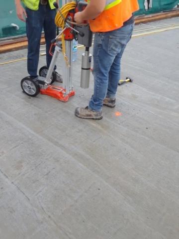 Testing new concrete