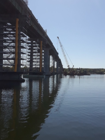 View of stage two west side of bridge