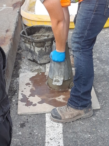 Testing prior to concrete placement