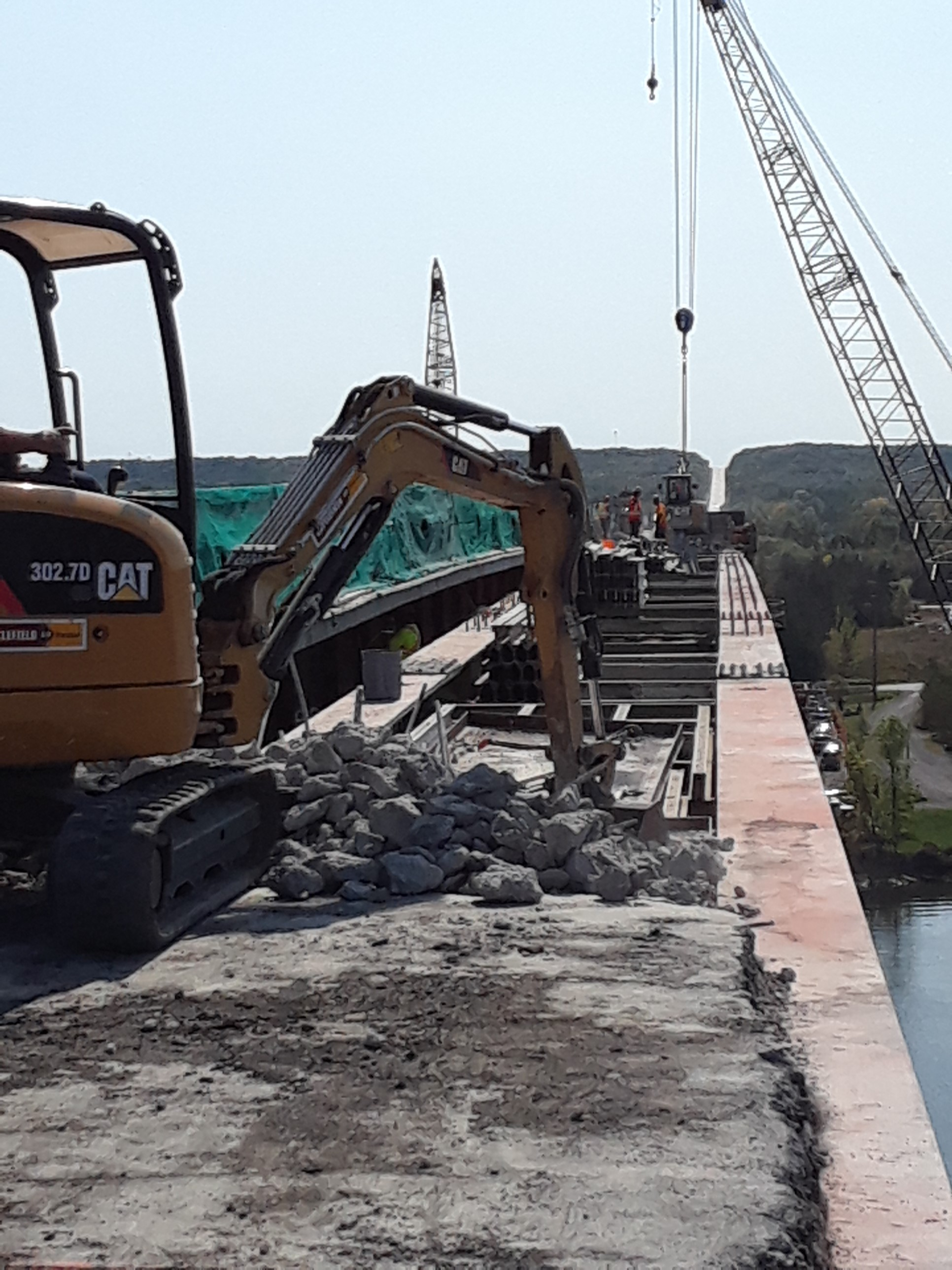 Removal of the concrete deck