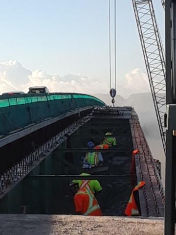 Preparing girders for removal