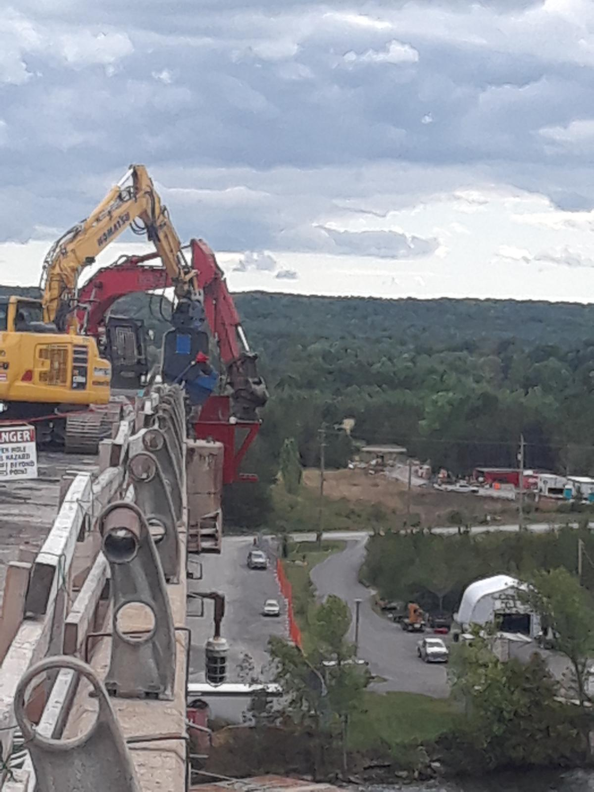 Removal of barrier wall