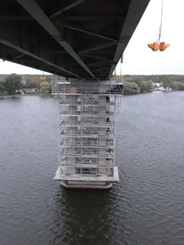 View of pier 6 scaffolding
