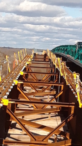 Top of the new girders from a south side view