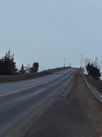 Bridge open to two lanes until spring