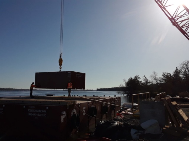 Adding additional barge sections for use in girder removals