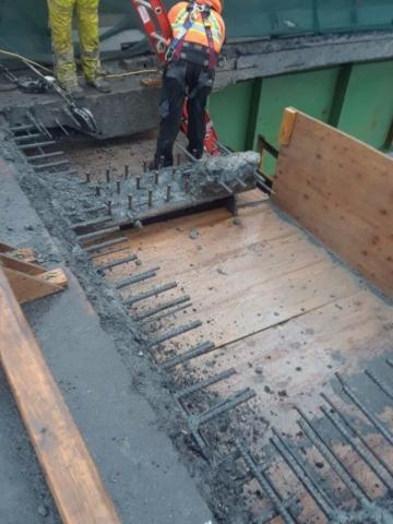 Pier cap 8 concrete removal
