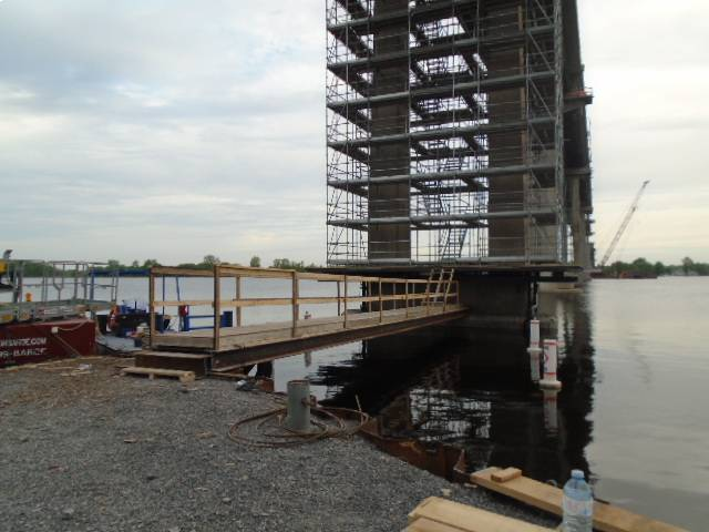 Completed walkway to pier 12