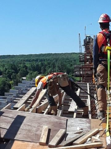 Constructing the work platform