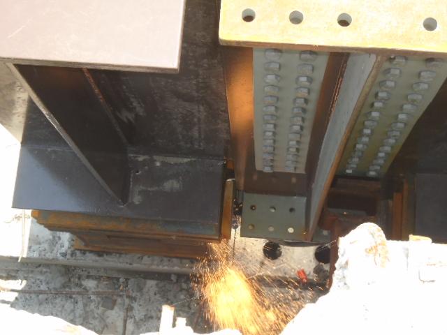 Bearing work (deck view)