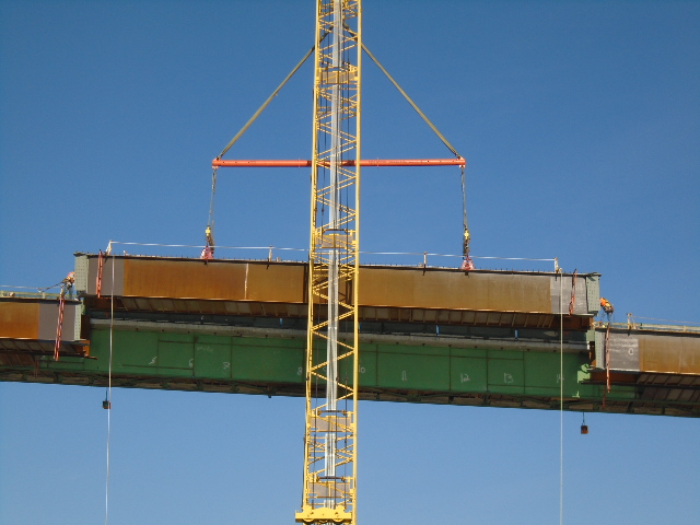 Drop-In girder being lowered into place