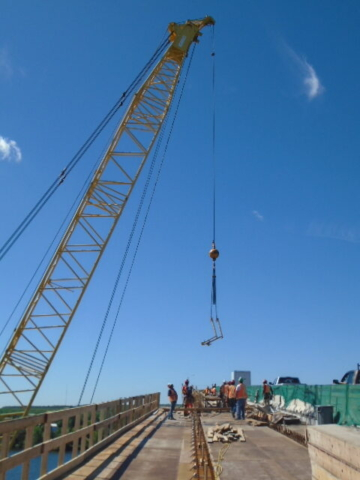 Removing the rails from the installed girders