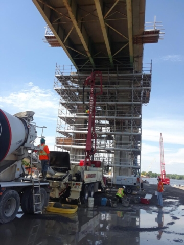 Expanded view of pier 14 concrete placement