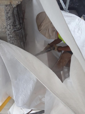 Pier 12 abrasive blast cleaning