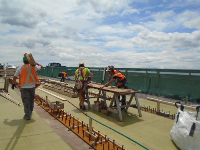 Building deck form-work