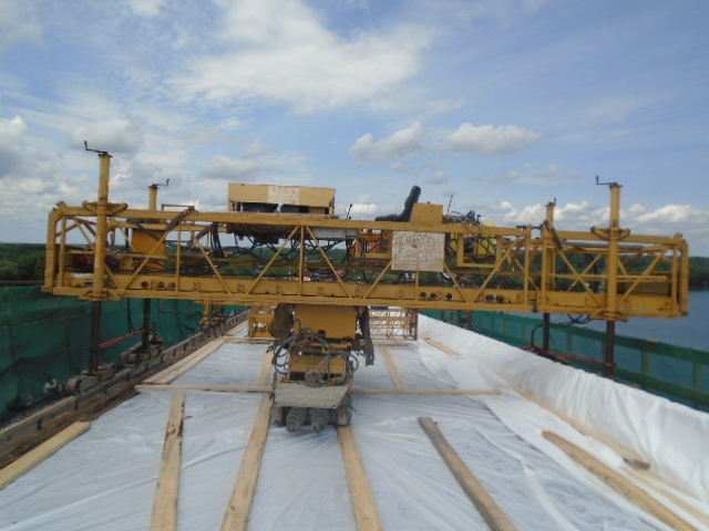 Concrete finisher and tarps