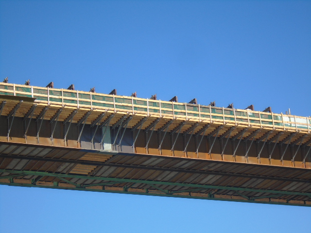 View of concrete form work from below