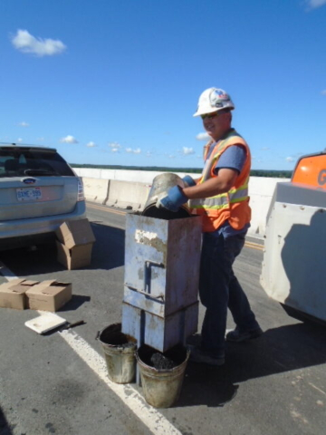 Separating asphalt for testing