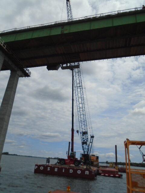 Work platform and bracket removal