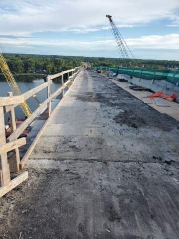 North view of the deck after barrier wall removal