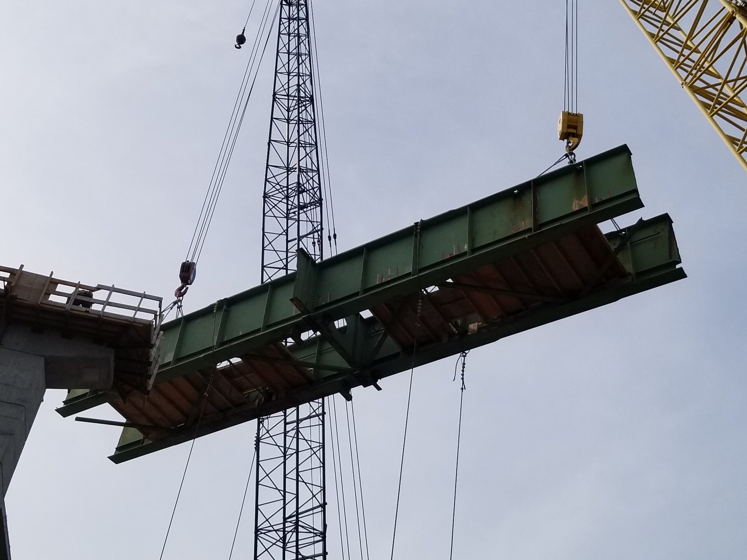 Removing the first haunch girder