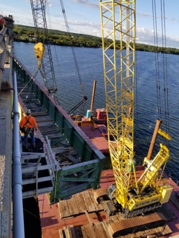 Lowering the second approach girder