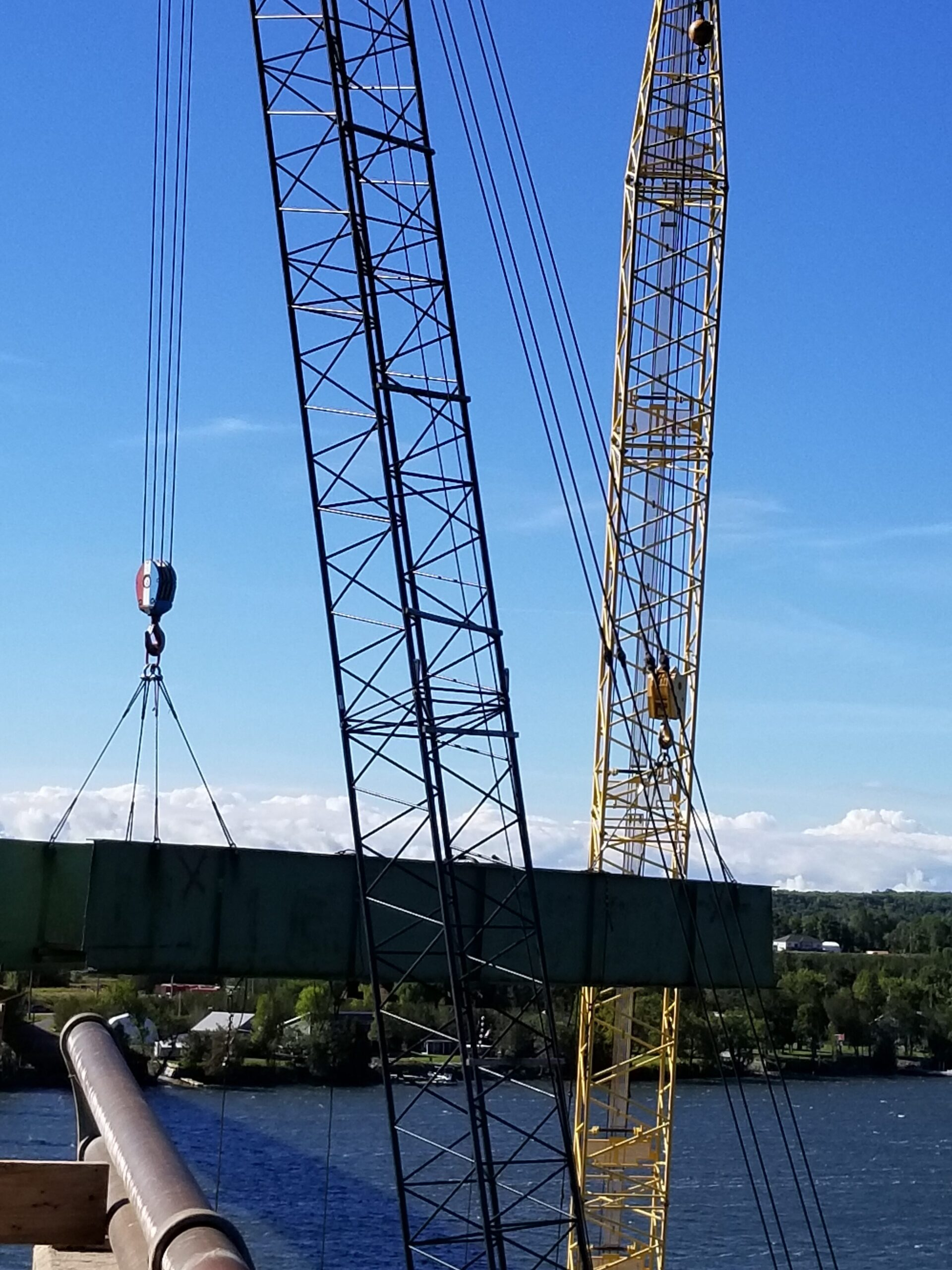 Lowering the second haunch girder