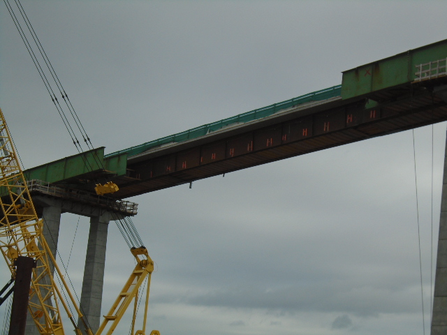 Center section after girder removal