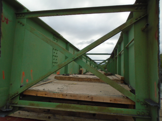Inside view of removed girder