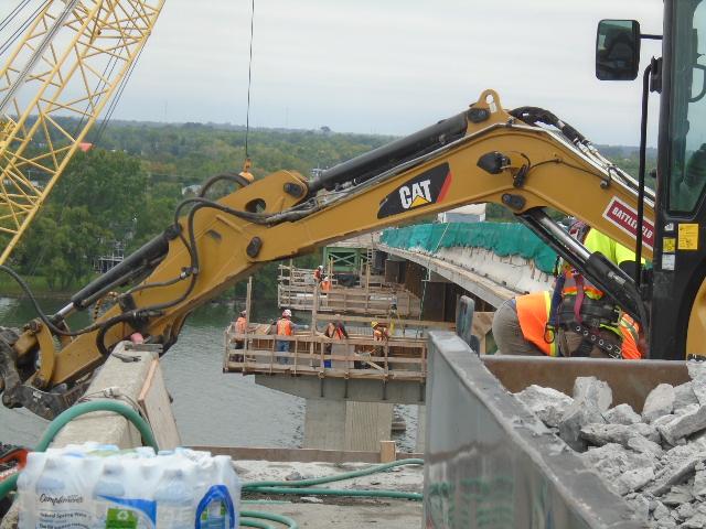 Constructing form work for pier cap concrete placement
