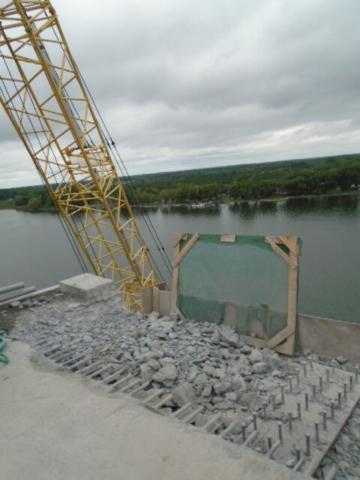 """Segment """"C"""" 1.8m concrete removal"""