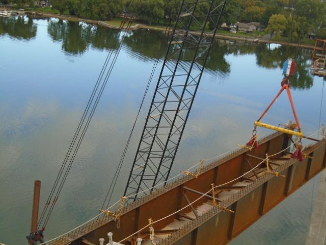 First approach girder mid-lift
