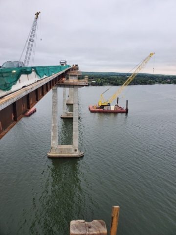 View south after girder removals