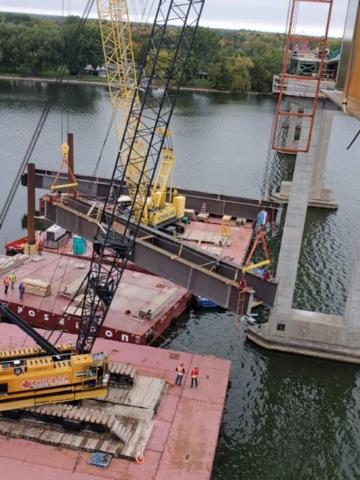 Second haunch girder mid-lift