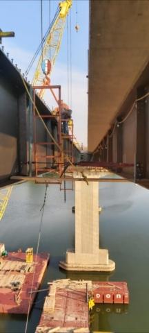 installing the approach girder