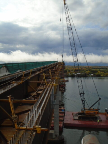 Expanded view of Drop-In girder mid-lift