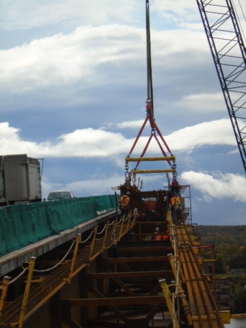 Lowering the Drop-In girder
