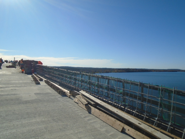 View south of completed barrier wall rebar